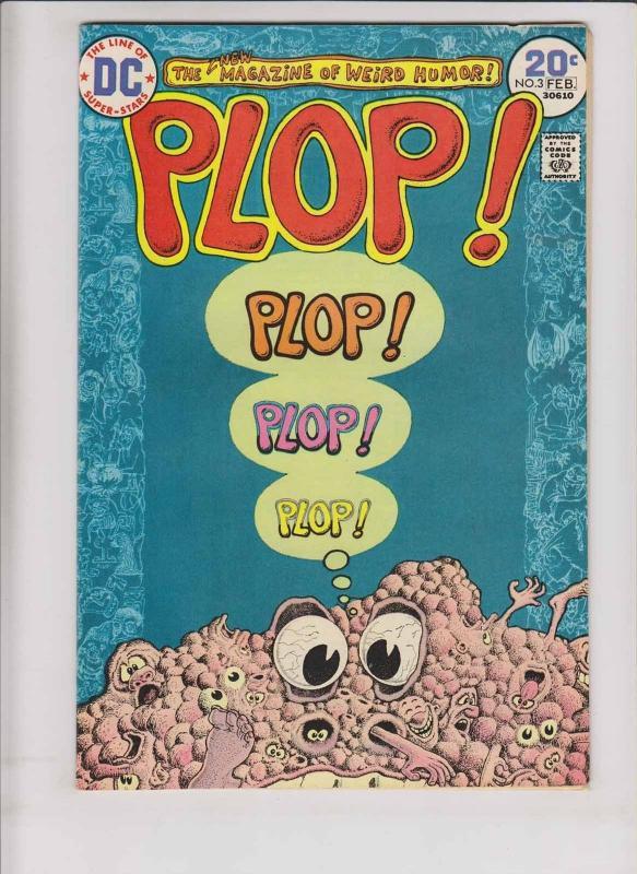 Plop #3 VF basil wolverton - sergio aragones - bronze age dc comics weird humor
