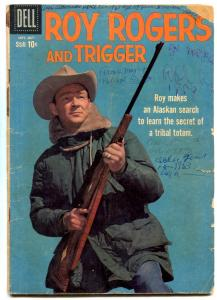 Roy Rogers And Trigger #133 1959-DELL WEST-RUSS MANNING G-