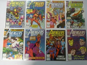 West Coast Avengers lot 51 different from #51-102 last issue 8.0 VF (1989-94)