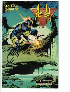 Ash: The Fire Within #2 VF signed by Joe Quesada FIRE FIGHTER SUPER HERO fireman