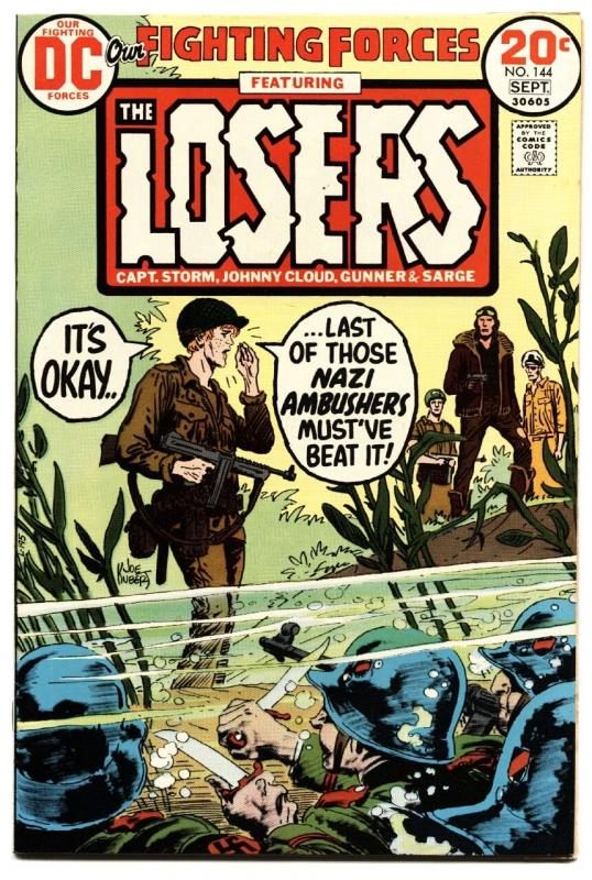 OUR FIGHTING FORCES #144 1973-DC-THE LOSERS-CAPT STORM-JOE KUBERT nm