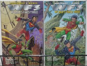 WF3- WORLD'S FINEST THREE (DC, 1996) #1-2, COMPLETE! Superboy&Robin! Dixon/Kesel