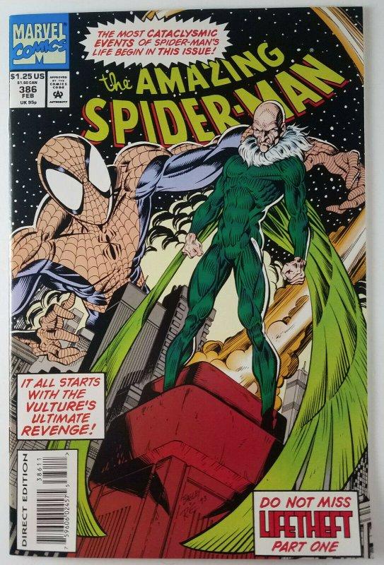 (3x) The Amazing Spider-Man: LIFETHEFT! #386, #387, #388 Full Set Marvel Vulture