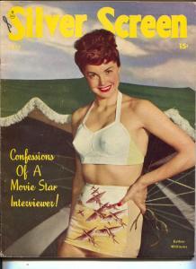 Silver Screen-Esther Williams-John Wayne-Clark Gable-Veronica Lake-July-1947