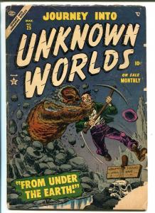 JOURNEY INTO UNKNOWN WORLD #25 1954-ATLAS-TWO HEADED FREAKS-good