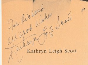 Autographed Dark Shadows Actress Kathryn Leigh Scott picture