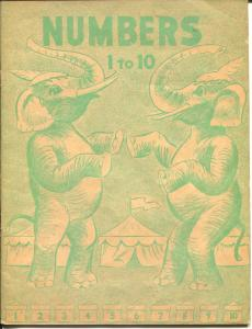 Numbers 1 To 10 1946-Continental Press-children's book-coloring format-VF