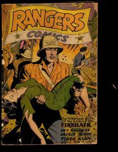 Rangers Comics # 30 VG Golden Age Comic BOok Fiction House Magazines Jungle NE3