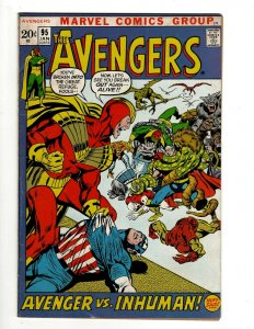 Avengers # 95 FN Marvel Comic Book Hulk Thor Captain America Iron Man OF2