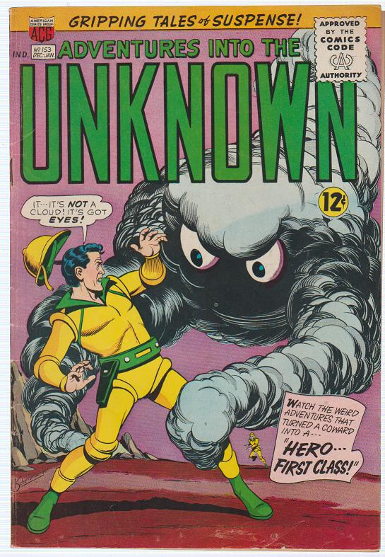 ADVENTURES INTO THE UNKNOWN #153 AMERICAN COMICS GROUP 1964 TALES OF SUSPENSE