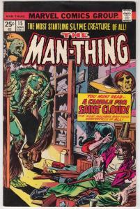 Man-Thing #15 (Apr-75) VF- Mid-High-Grade Man-Thing