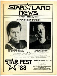 Star Land News-Winter 1988-Star Trek fanzine-ads-convention info-VF