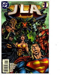 5 JLA DC Comic Books # 1 2 3 4 5 Superman Batman Wonder Woman Flash Aquaman CB6