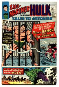 TALES TO ASTONISH #70 comic book-SUB-MARINER-HULK-MARVEL