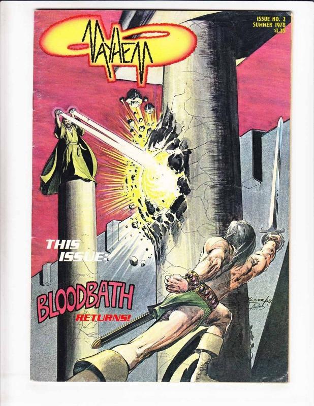 Mayhem #2 FN (1st) print - neal adams cover - underground comix - summer 1978