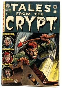 TALES FROM THE CRYPT #38 1953-EC-JACK DAVIS-Iconic VIOLENT cover