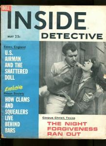 INSIDE DETECTIVE-05/1961-U.S. AIRMAN-BARS-CROOKED-COP-CHEATING-DEATH VG