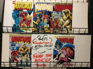 MARKSMAN (1988 HERO) 1-5 EARLY INDIE SERIES IN COLOR