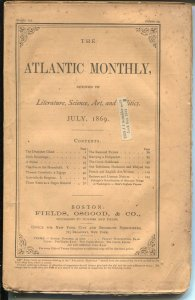 Atlantic Monthly 1869-145+ years old-literature-art-science-VG