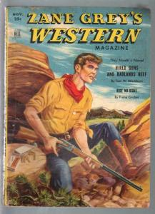 Zane Grey's Western Magazine 11/1950-Dell-Frank Gruber-pulp adventure-VG
