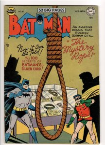 BATMAN 67 SOLID COPY,JOKER STORY;NOOSE COVER.