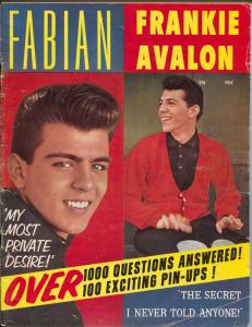 Fabian - Frankie Avalon #1 1959-Country Wide Pubs-1st issue-pix-info-VG
