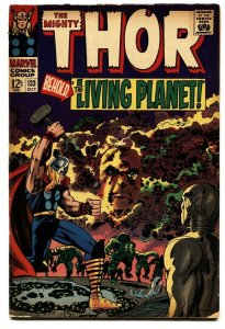 Thor Comics #133 comic book 1966-Marvel Silver Age- EGO Living Planet Jack Kirby