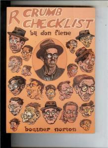 ROBERT CRUMB CHECKLIST by Don Fiene, 1st,1981, NM-, more Underground in store