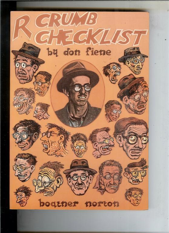 ROBERT CRUMB CHECKLIST by Don Fiene, 1st,1981, NM-, more Underground in store