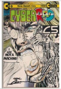 CYBERRAD #5 SIGNED AUTOGRAPHED BY LEGEND NEAL ADAMS GLOW-IN-THE-DARK COVER W/COA