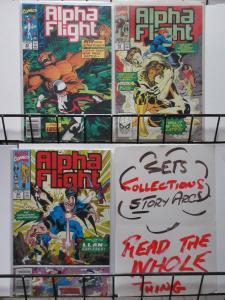 ALPHA FLIGHT  (Marvel, 1983) #84-86 VF-NM Earth War pts 1-3 complete! Dr.Strange