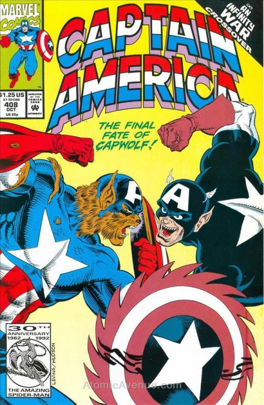 Captain America (1st Series) #408 VF/NM; Marvel | save on shipping - details ins
