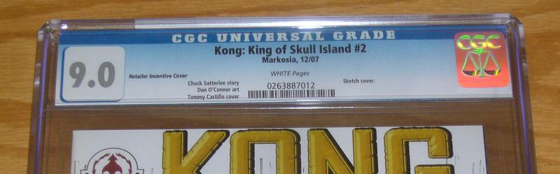Kong: King of Skull Island #2 CGC 9.0 retailer incentive sketch variant cover B