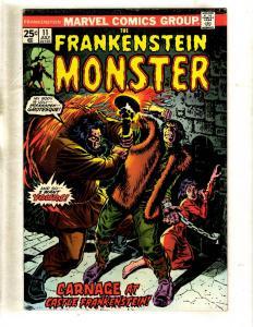 Monster Of Frankenstein # 11 VF Marvel Comic Book Horror Fear Scary FM2