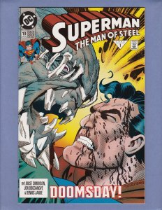 Superman The Man of Steel #19 NM-/NM Doomsday Front/Back Cover Scans DC 1993