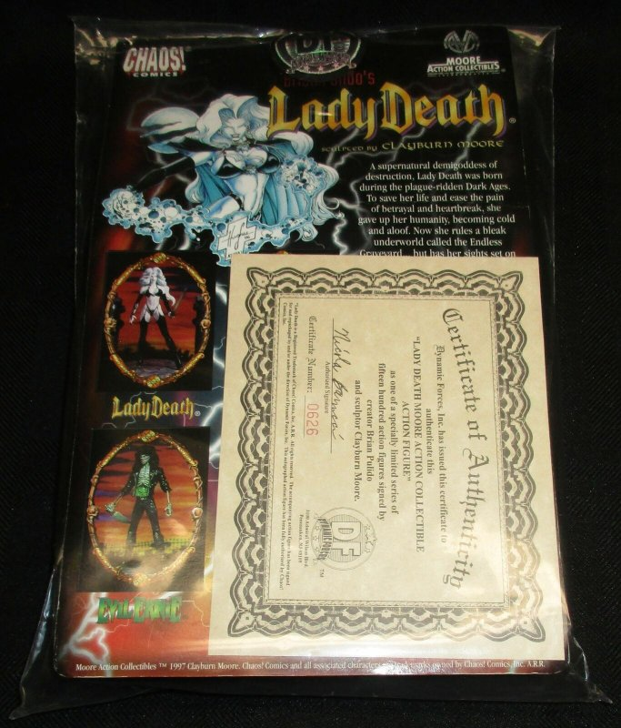 Dynamic Forces Lady Death Figure Signed by Pulido & Moore #626/1500 w/COA