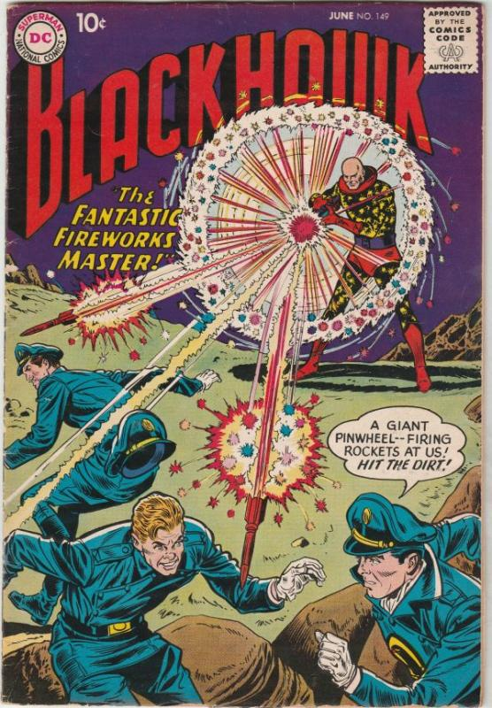 Blackhawk #149 (Jun-60) VF- High-Grade Black Hawk, Chop Chop, Olaf, Pierre,Ch...