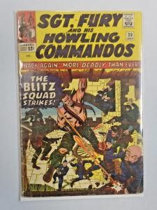 Sgt Fury and his Howling Commandos #20 The Blitz Squad Strikes! 3.0 (1965)