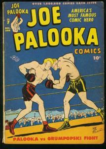 JOE PALOOKA #7 1946-HARVEY COMICS-BOXING--- FLYIN' FOOL G/VG
