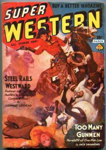 Super Western Pulp March 1938- Jack Drummond- J Edward Leithead FN