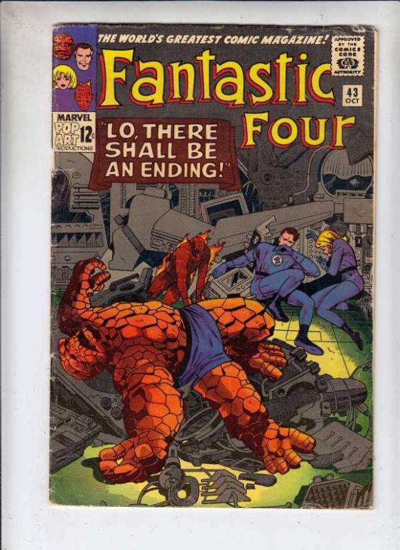 Fantastic Four #43 (Oct-65) VG/FN Mid-Grade Fantastic Four, Mr. Fantastic (Re...