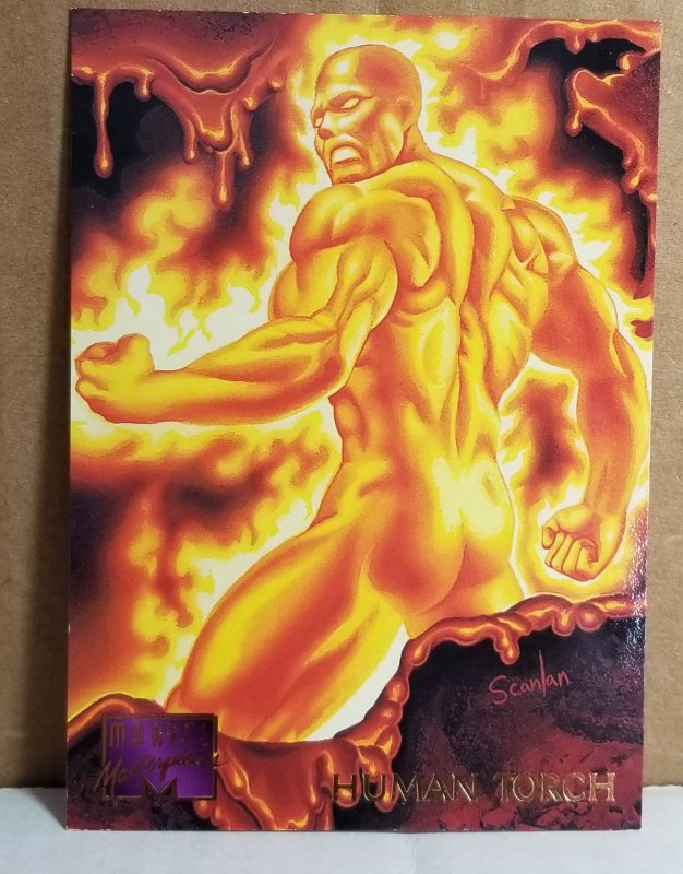 1995 Marvel Masterpieces #45 Human Torch