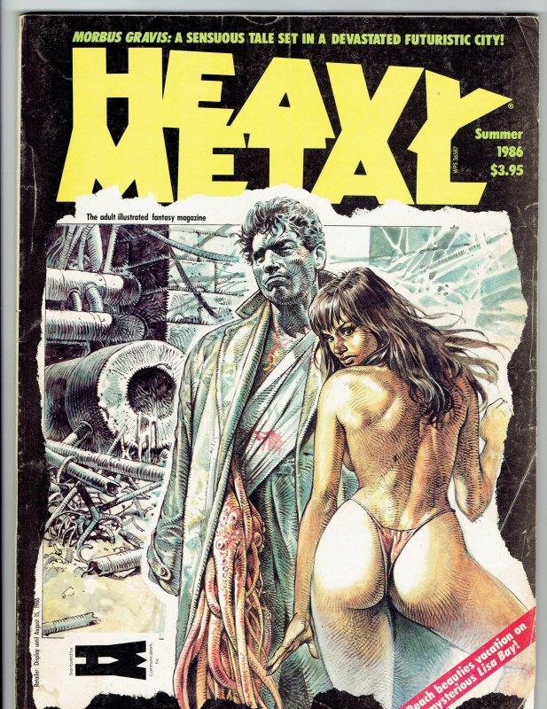Heavy Metal Magazine Summer 1986, Morbus Gravis, Lisa Bay