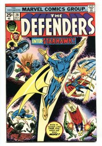 THE DEFENDERS #28 comic book-1st appearance STARHAWK Comic Book VF