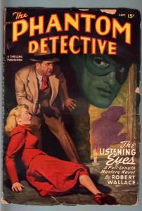 PHANTOM DETECTIVE-FSEPT 1948-WEIRD TERROR--HARDBOILED PULP HERO--ROBERT WA VG-