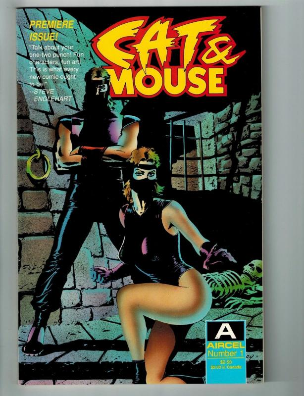 Cat & Mouse # 1 VF/NM Aircel Comic Book Premiere Issue Appearance Modern S77