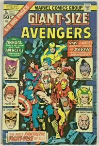 GIANT-SIZE AVENGERS#5 VG/FN 1975 MARVEL BRONZE AGE COMICS