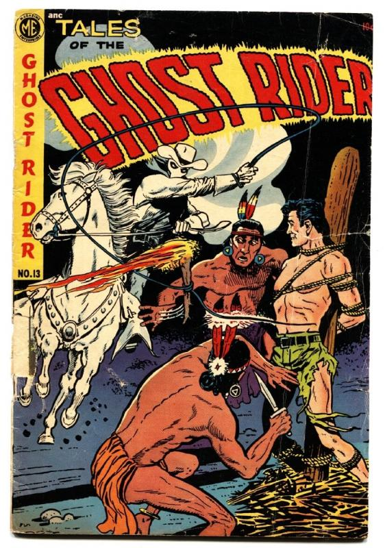 Ghost Rider #13 1953-ME-bondage-torture-western horror G