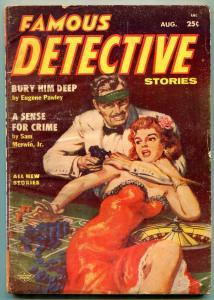 Famous Detective Stories Pulp August 1955- Sense for Crime VG