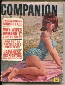 Companion 12/1966-cheesecake pix-Lee Marvin-Mia Farrow-scandal-VG
